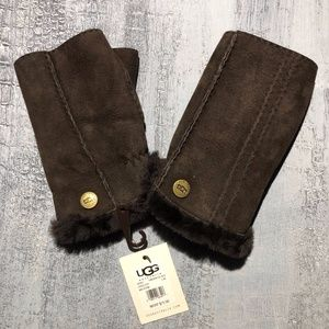 Ugg Fingerless Chocolate Gloves Driving Dog Walk